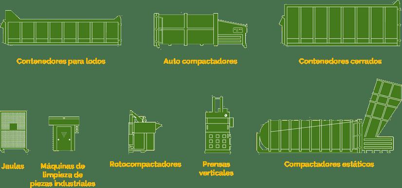 Suministros y equipos para transportes de residuos
